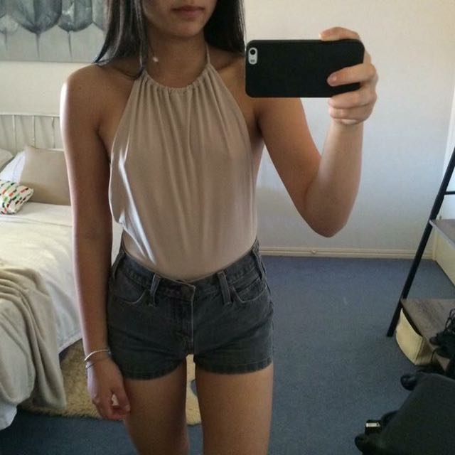 Pretty little thing Backless Bodysuit
