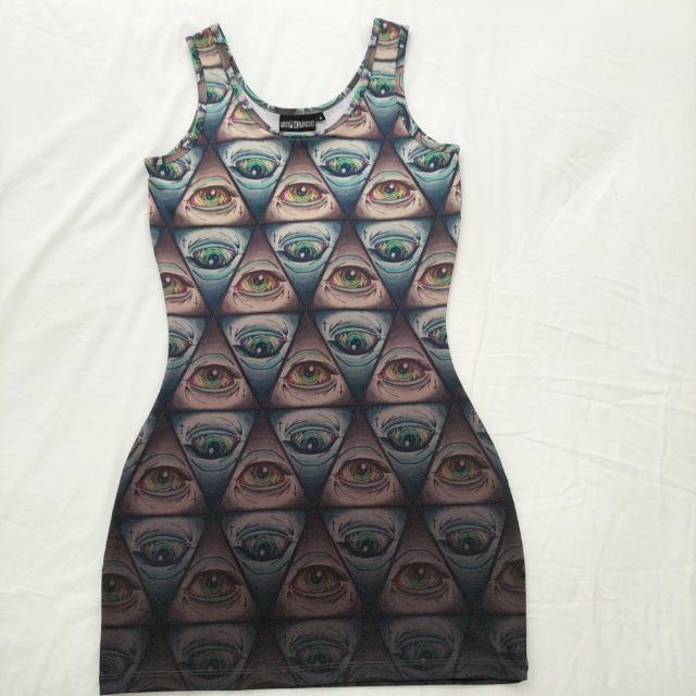 Pulp Kitchen Illuminati Eye Bodycon Dress