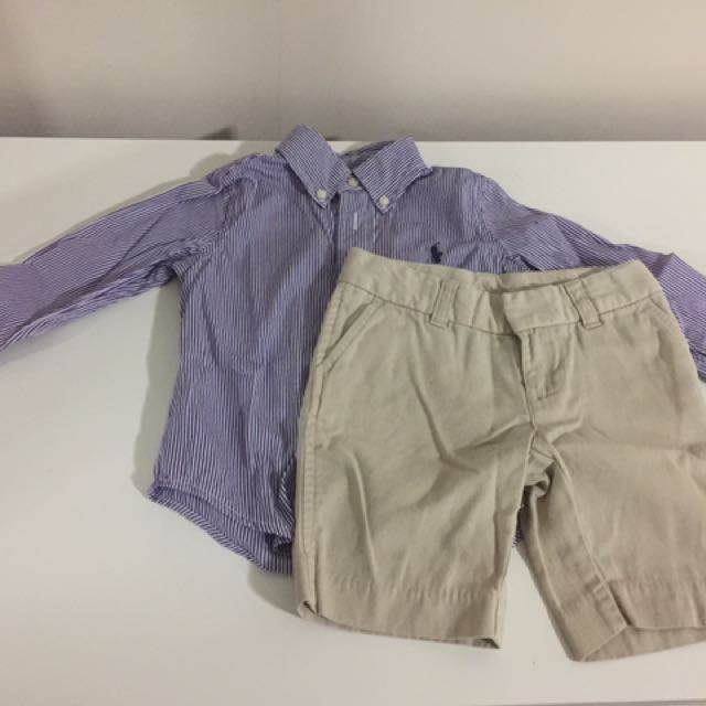 Ralph Lauren shirt And Chino Shorts