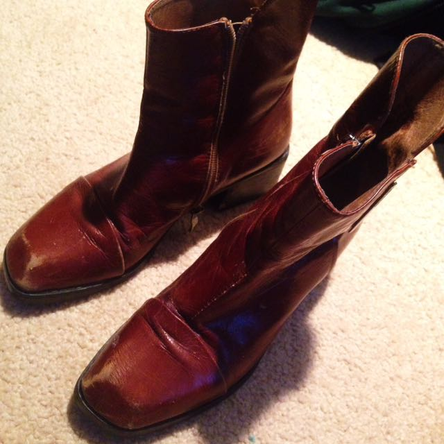 Real Leather Vintage Boots