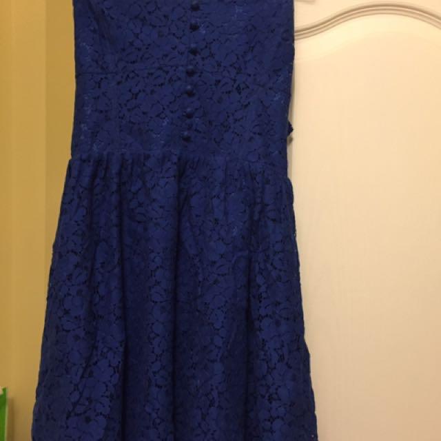 Royal Blue Talula Dress Aritzia