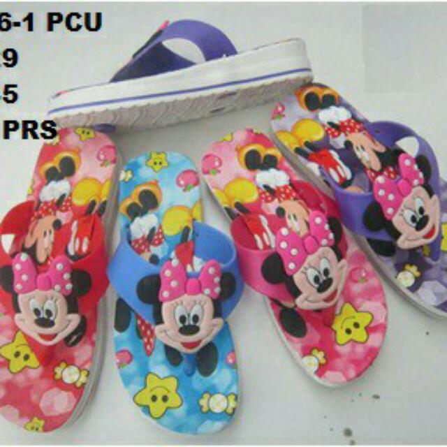 Sandal Jepit Anak Minnie Mouse / Mini Melissa Minnie Mickey