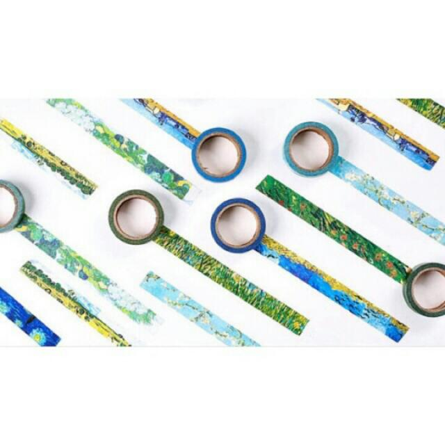 Set Of 8 Van Gogh Paintings Washi Tapes