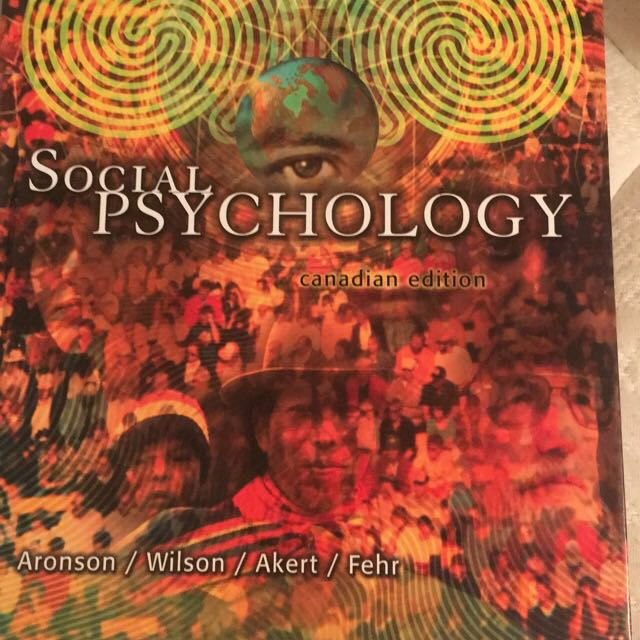 Social Psychology Textbook By Aronson and Wilson