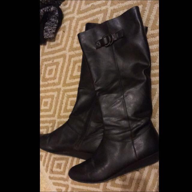 Tall Black American Eagle Boots