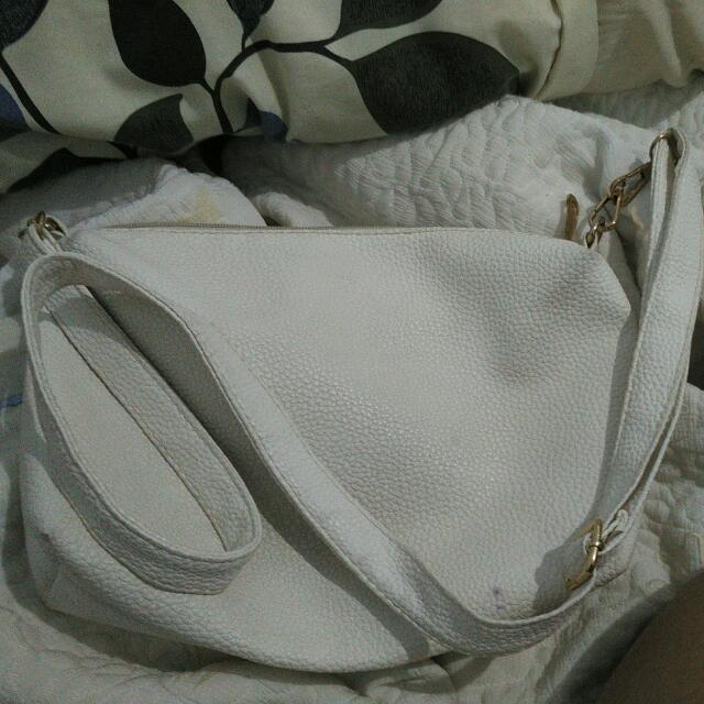 tas putih beli di zalora