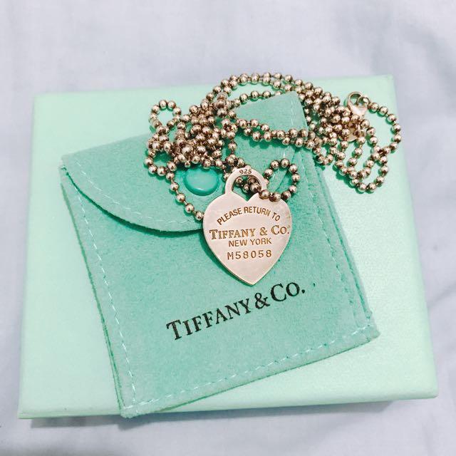 Tiffany 心型項鍊