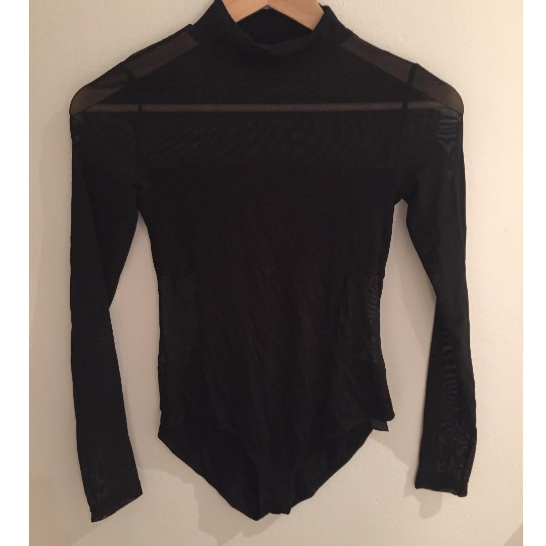 trendy mesh playsuit from asos (uk 6)