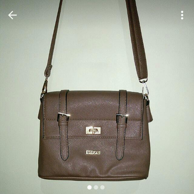 Unisa khaki medium satchel