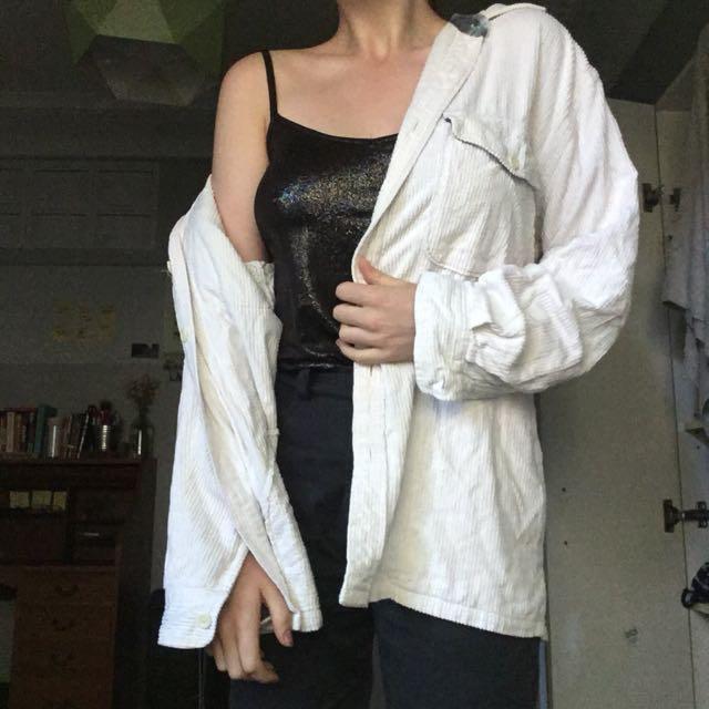 Vintage Corduroy Jacket White