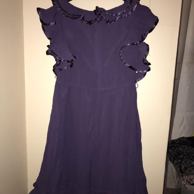 Wayne Cooper Purple Dress