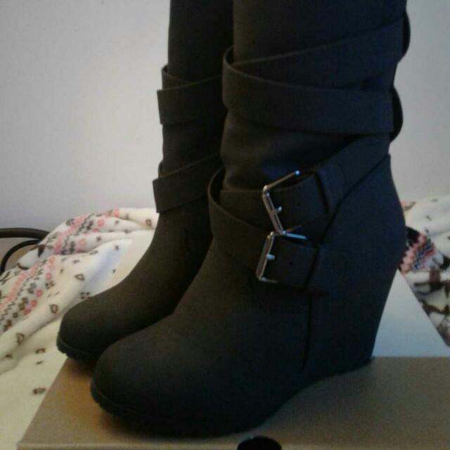 Wedges Boots Size 6