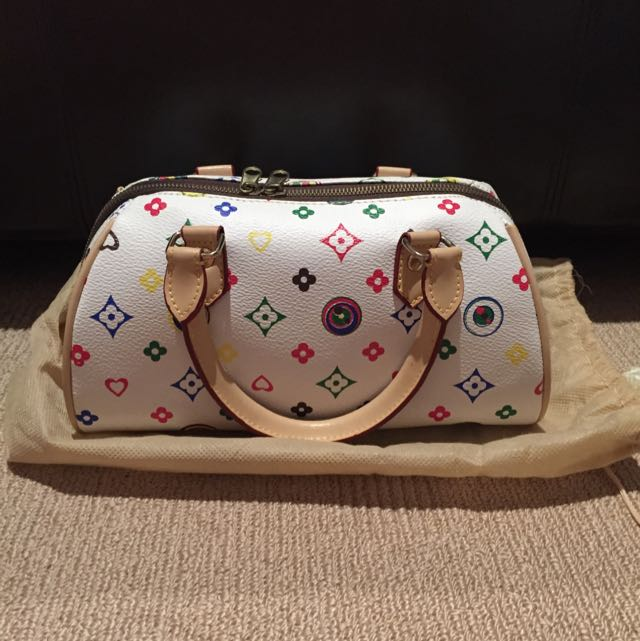 White Printed Bag