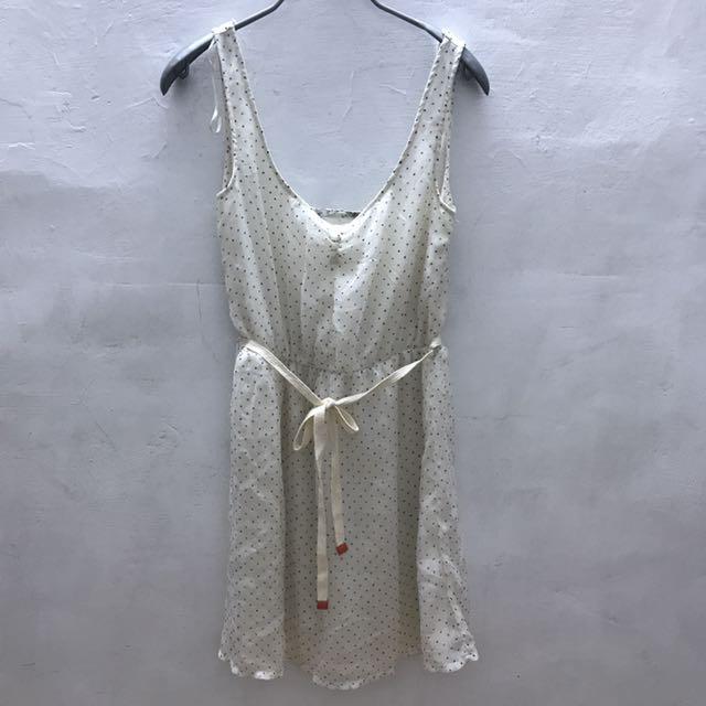 近全新-ZARA點點綁帶洋裝
