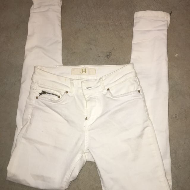Zara Basic Jeans 34 White