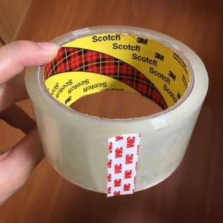 3M Scotch 透明封箱膠帶