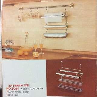 保鮮膜切割廚房紙巾架