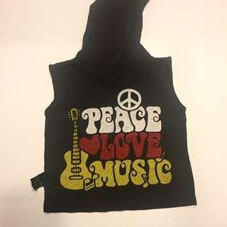 Peace Love Music Hoodie Tees