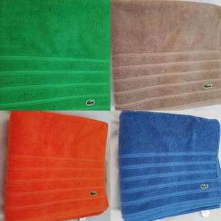 Authentic Lacoste Bath Towel