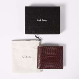 NEW Paul Smith No.9 - Men's Damson Leather Billfold Wallet