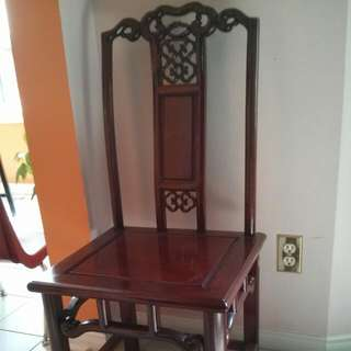 Red Wood Dinning Chairs