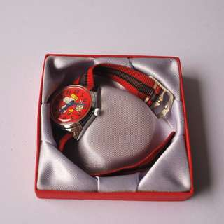 The red Snoopy wrist watch