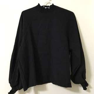🚚 韓國麂皮高領上衣