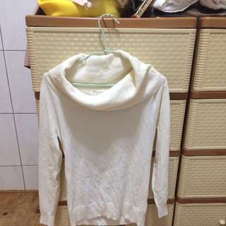 白色毛衣 可調整肩膀的寬度