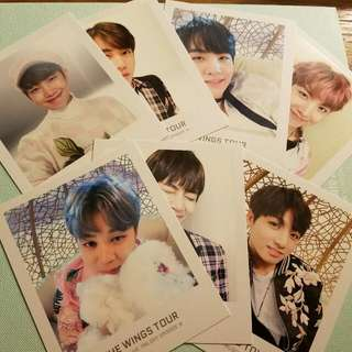 BTS The Wings Tour Official Polaroid's