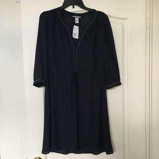 H&M Navy Blue Dress With Tags