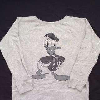 Vintage Disney Donald Duck Grey Jumper