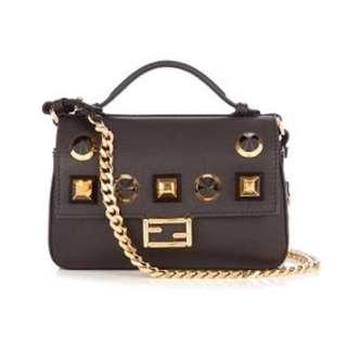 Fendi's black Double Micro Baguette bag