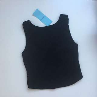 Kookai Cross Back Top (Black Only)