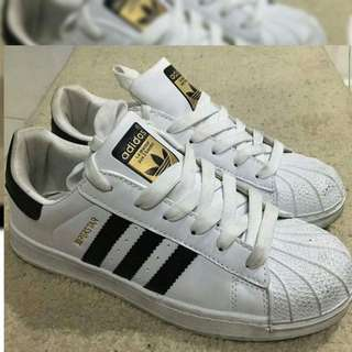 ADIDAS Superstar OEM black stripes