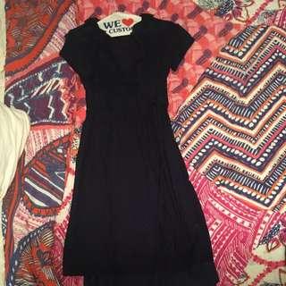 Jcrew Navy Wrap Dress