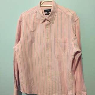 BOSSINI - Leisure Fit Long Sleeves Shirt - Pink
