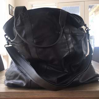 NIQUE Large Leather Bag / Leather Travel Bag