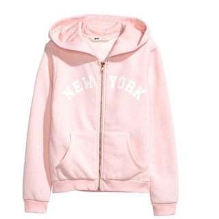 H&M HOODED WITH GOLD ZIPPER