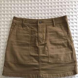 Country Road Tan Denim Skirt