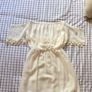 Princess Polly Off The Should White Lace Dress