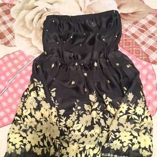 Black And Yellow Spring Dress