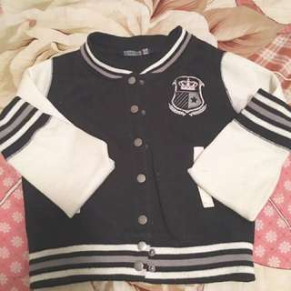 Varsity Cropped Sweater