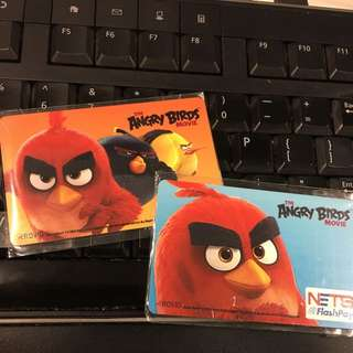 Limited Edition Angry Birds Flashpay & Ezlink Card Set