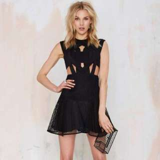 Black Mesh Dress - Size Small