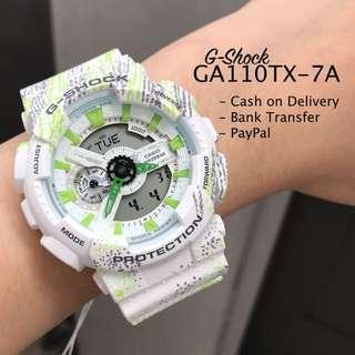 Casio G-Shock GA110TX-7A Graffiti White Resin Watch