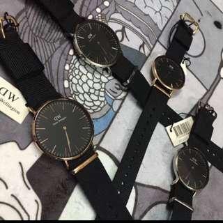 SALE Instock Couple Bundle Authentic BNIB Daniel Wellington Sheffield, Canterbury, Dapper, York Black Gold or Full Black Watch!!