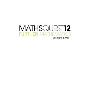 Maths Quest Further Mathematics VCE Units 3 & 4 eBook