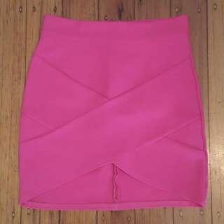 Bright Pink Tube Skirt Size 10
