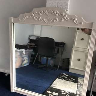 Off White Antique Wall Mirror
