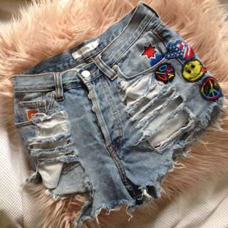 MINKPINK PATCH SHORTS